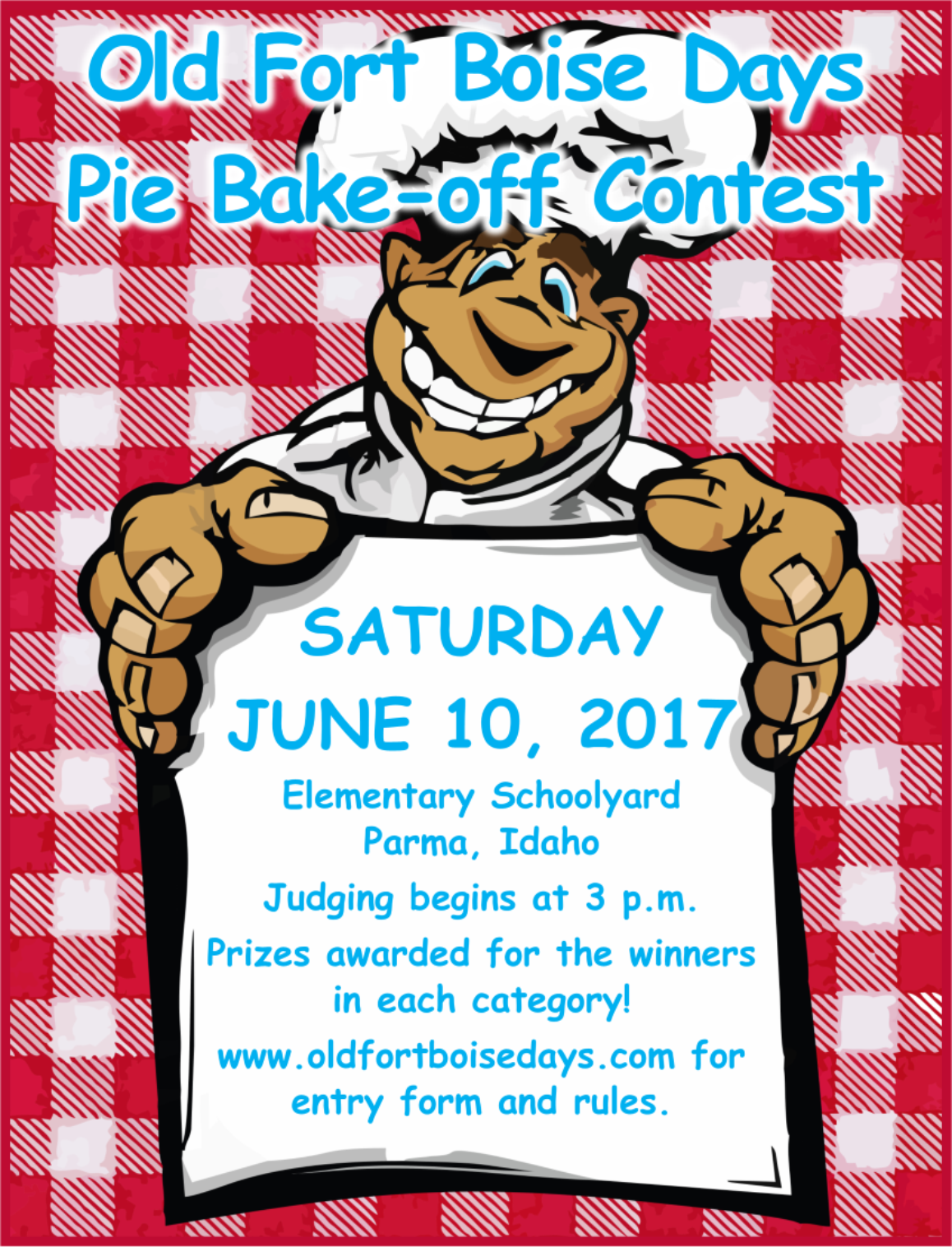 Pie Bake Off Contest Old Fort Boise Days 2018